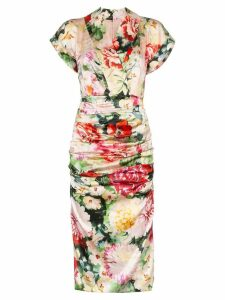Dolce & Gabbana Floral print V-neck silk blend midi dress - 108 -