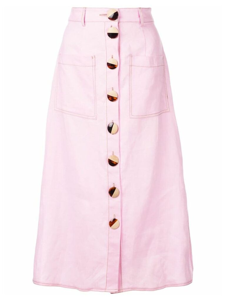 Nicholas front button skirt - Pink