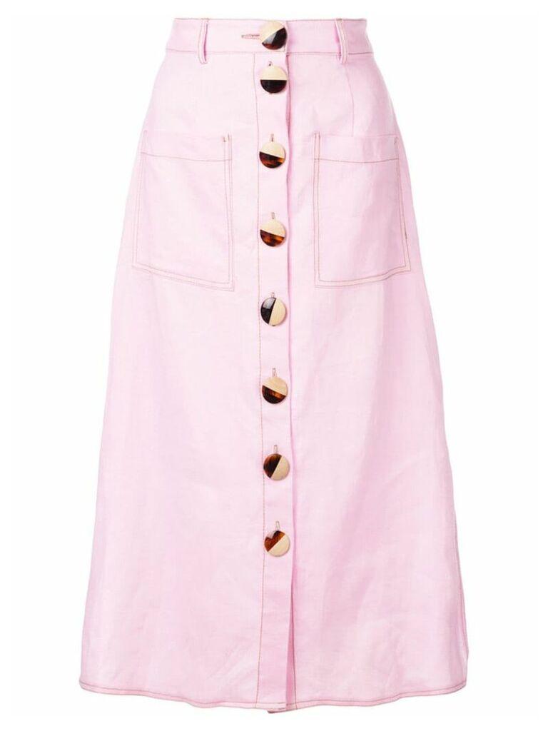 Nicholas front button skirt - Pink