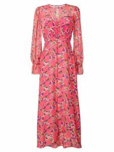 Saloni floral print maxi dress - Pink