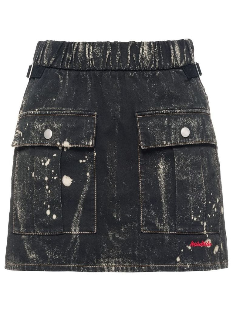 Miu Miu Cotton gabardine skirt - Black