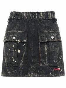 Miu Miu Cotton gabardine skirt - Black