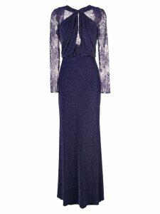 Tadashi Shoji lurex knit evening dress - Purple