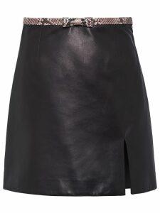 Miu Miu mini leather skirt - Black