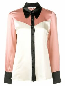 L'Autre Chose western panel shirt - Pink