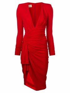 Alexandre Vauthier plunge-neck dress - Red