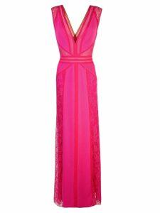 Tadashi Shoji lace inserts gown - Pink