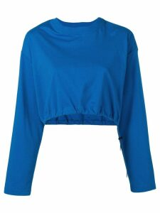 Unravel Project cropped sweatshirt - Blue