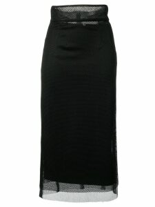 Dolce & Gabbana mesh panel pencil skirt - Black