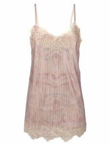 Ermanno Scervino crystal embellished dress - Pink