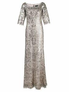 Tadashi Shoji beaded a-line gown - Metallic