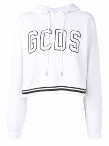 Gcds logo hooded sweatshirt - White