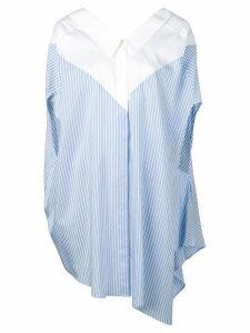 Unravel Project lace-up shirt - Blue