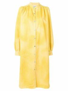Ganni minion shirt midi dress - Yellow