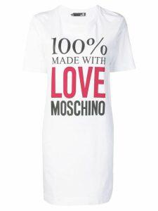 Love Moschino Made with Love T-shirt dress - White