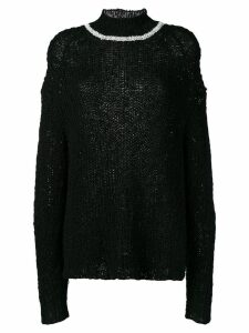 Jil Sander oversized slouchy jumper - Black