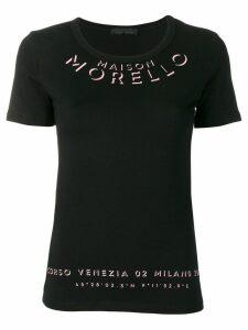 Frankie Morello logo print T-shirt - Black