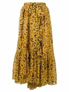Ulla Johnson floral print midi skirt - Yellow