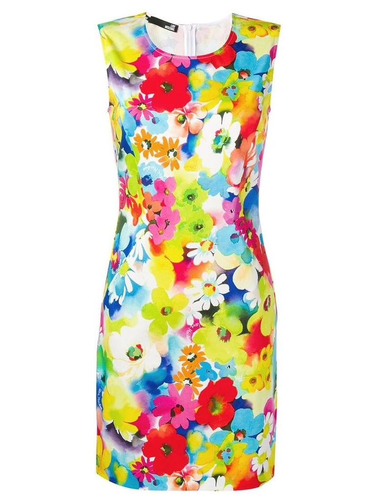 Love Moschino floral print mini dress - Yellow