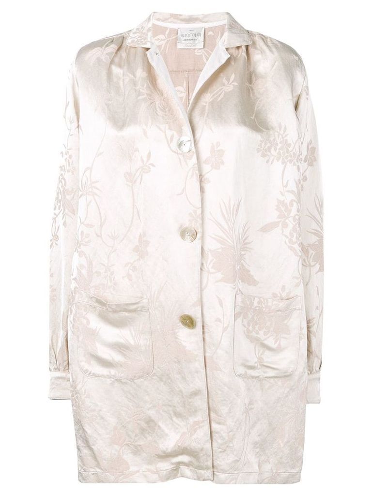 Forte Forte jacquard button coat - Neutrals