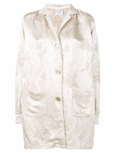 Forte Forte jacquard button coat - Neutrals
