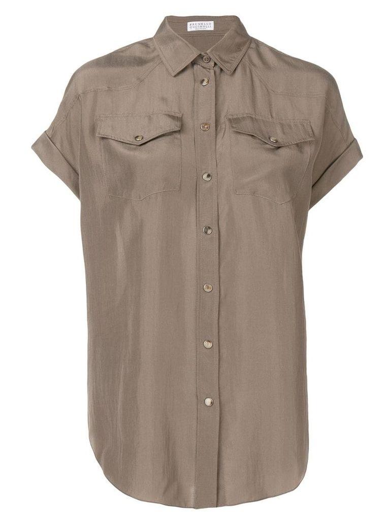 Brunello Cucinelli chest pockets shirt - Neutrals