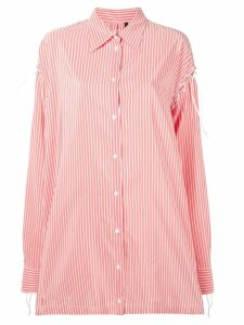 Unravel Project lace-up shirt - Red