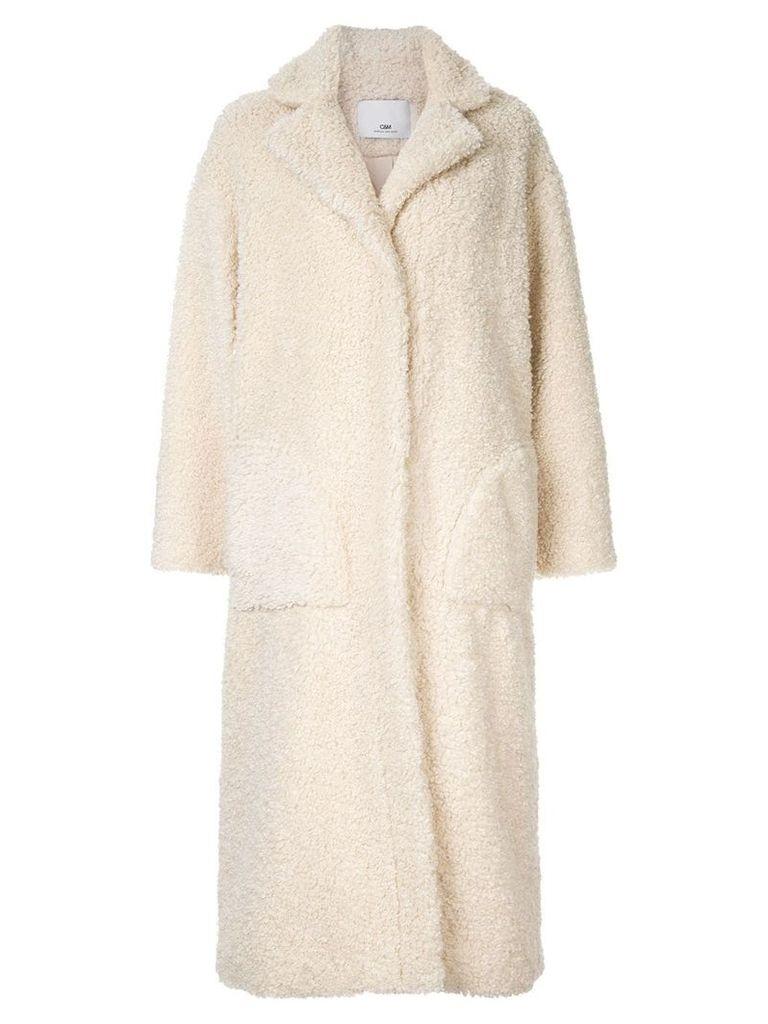C & M Talli faux-shearling coat - White