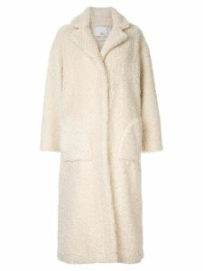 C & M Talli faux-shearling coat - White