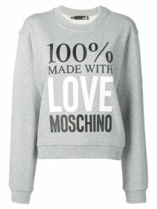 Love Moschino Made with Love sweatshirt - Grey