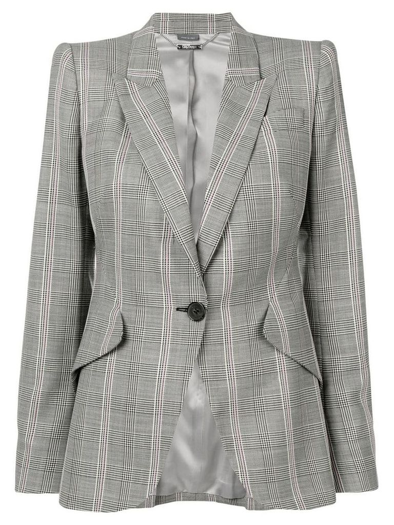 Alexander McQueen checked blazer - Grey