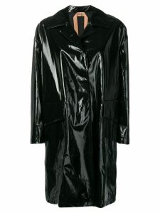 Nº21 vinyl coat - Black