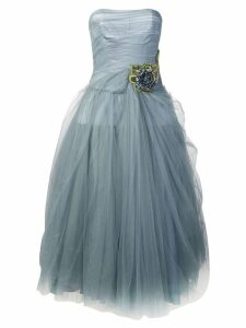 Prada strapless tulle dress - Blue