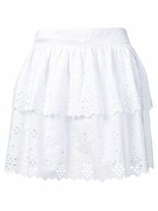 Alberta Ferretti embroidered flared skirt - White