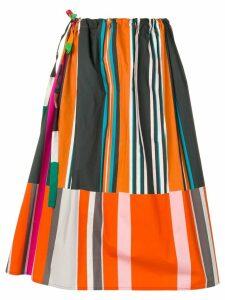 Pierre-Louis Mascia striped A-line skirt - Black
