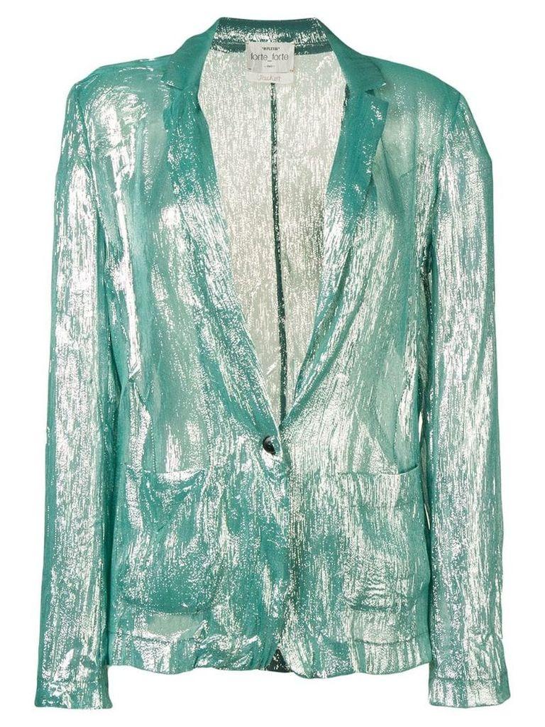 Forte Forte metallic blazer - Green