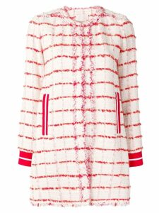 Pinko embroidered single-breasted coat - Neutrals