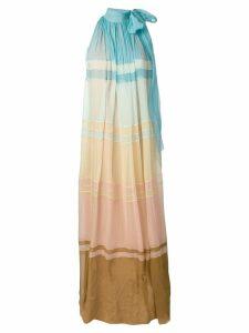 Alberta Ferretti colour gradient maxi dress - Blue