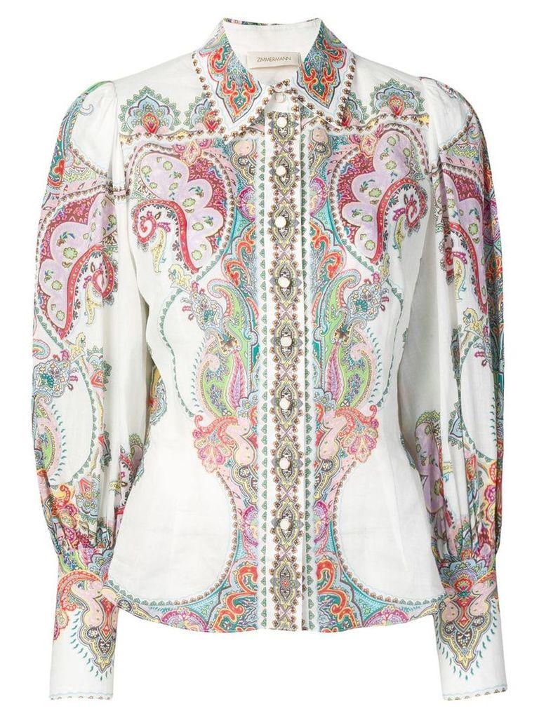Zimmermann Lennon paisley shirt - White