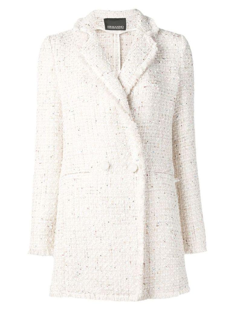 Ermanno Ermanno tweed blazer - Neutrals