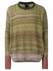 Bernhard Willhelm textured jumper - Green