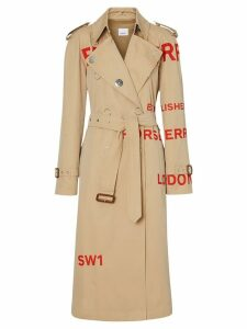 Burberry Horseferry print trench coat - NEUTRALS