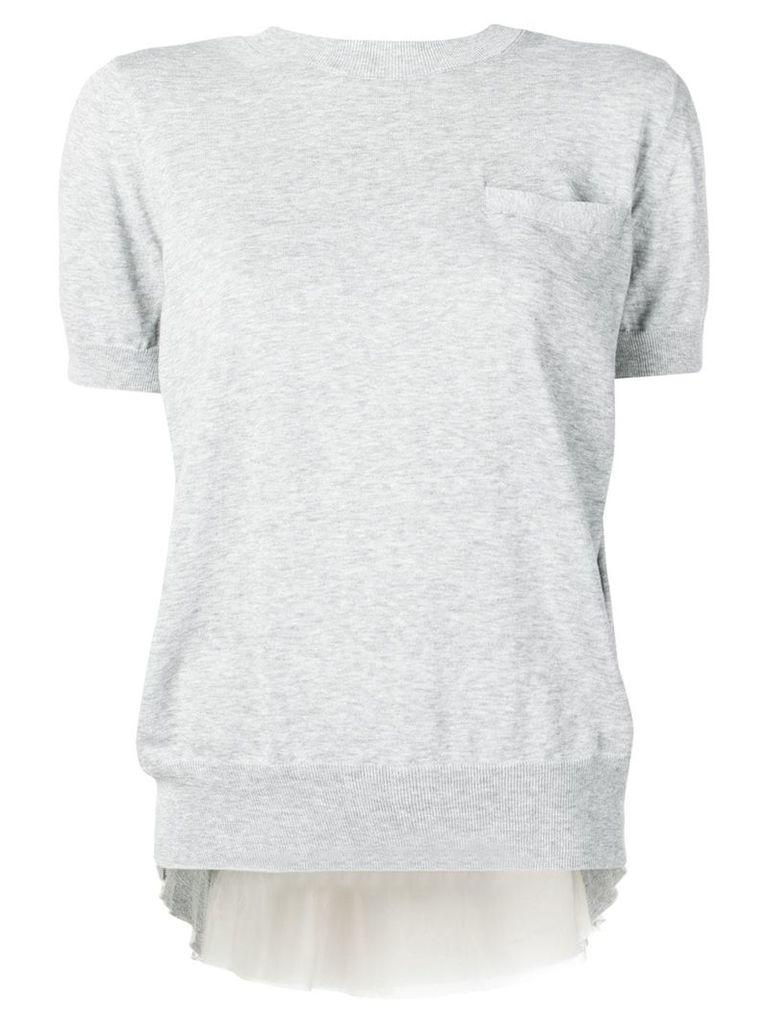 Sacai chest pocket T-shirt - Grey