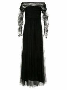 Fabiana Filippi pleated tulle dress - Black