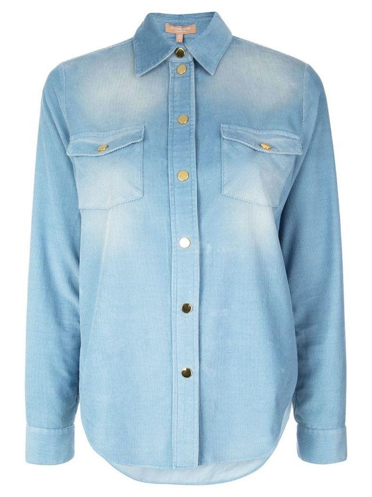 Michael Kors Washed Pincord shirt - Blue