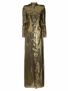 Ralph Lauren Collection sequin shirt dress - Gold