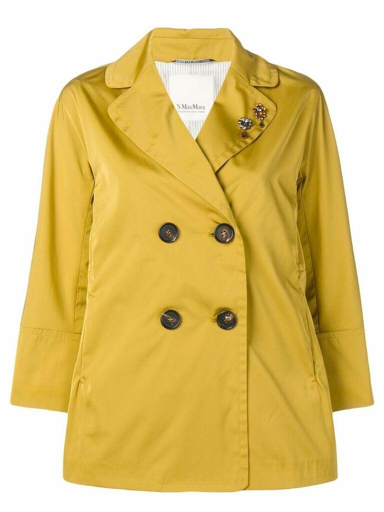 'S Max Mara double-breasted coat - Yellow