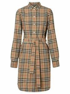Burberry vintage check shirt dress - Yellow