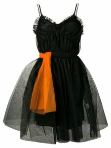 MSGM ruffle-trimmed tulle dress - Black