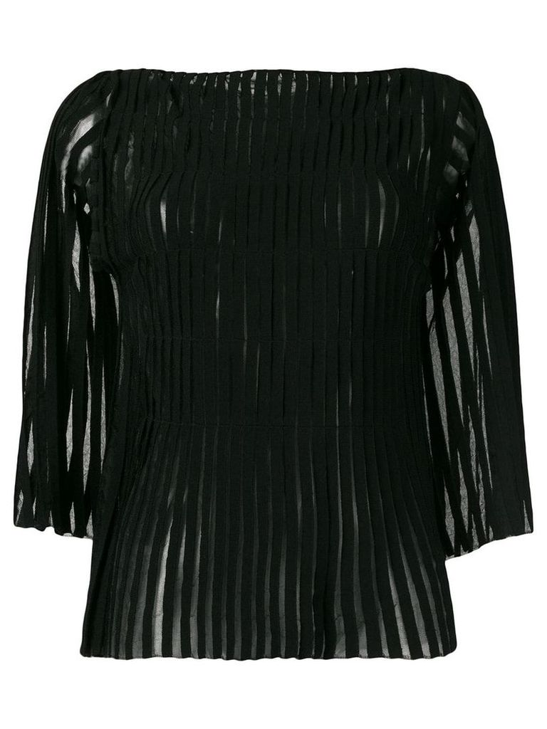 Pierantoniogaspari appliqué stripe top - Black